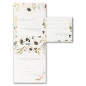 Soft Floral All 'n One Wedding Invitation alt
