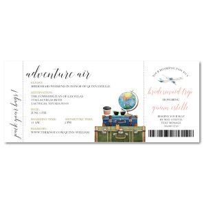 Ticket to Adventure Ticket Wedding Invitation Icon