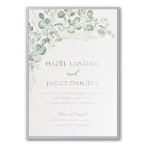 Watercolor Verdure Layered Wedding Invitation Icon