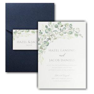 Watercolor Verdure Pocket Wedding Invitation Icon