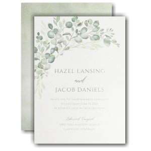Watercolor Verdure Wedding Invitation Icon