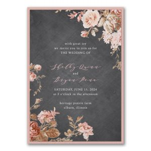 Wooden Blossoms Layered Wedding Invitation Icon