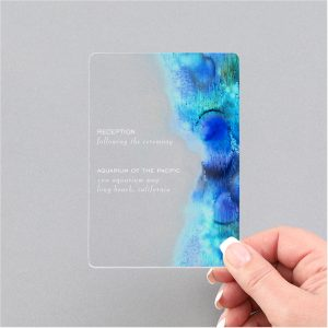 Bubbly Watercolor Clear Acrylic Reception Card