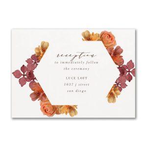 Burnt Floral Reception Card
