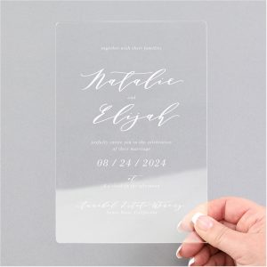 Charming Impression Clear Acrylic Wedding Invitation