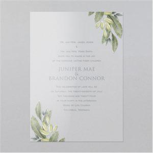 Corner Greens Clear Vinyl Wedding Invitation Icon