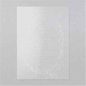 Foliage Frame Clear Vinyl Wedding Invitation Icon