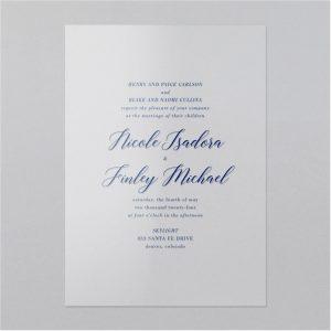 Harmonious Love Clear Vinyl Wedding Invitation Icon