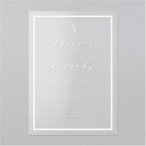Multi Border Clear Vinyl Wedding Invitation Icon