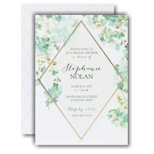 Cascading Vines Bridal Shower Invitation