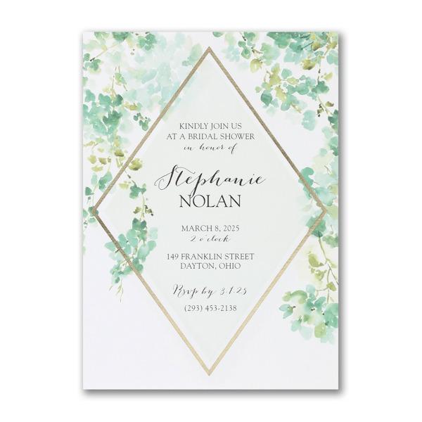 Cascading Vines Bridal Shower Invitation alt