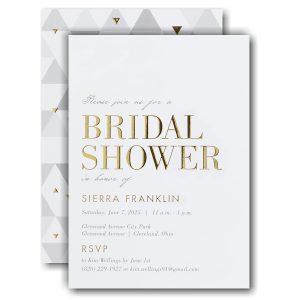 Exuberant Shower Bridal Shower Invitation