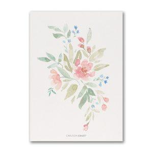 Flourishing Watercolor Bridal Shower Invitation alt 2