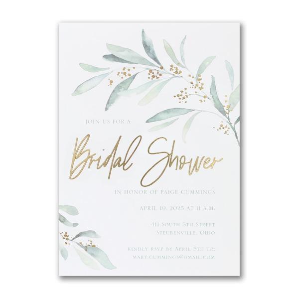 Fresh Daydream Bridal Shower Invitation alt