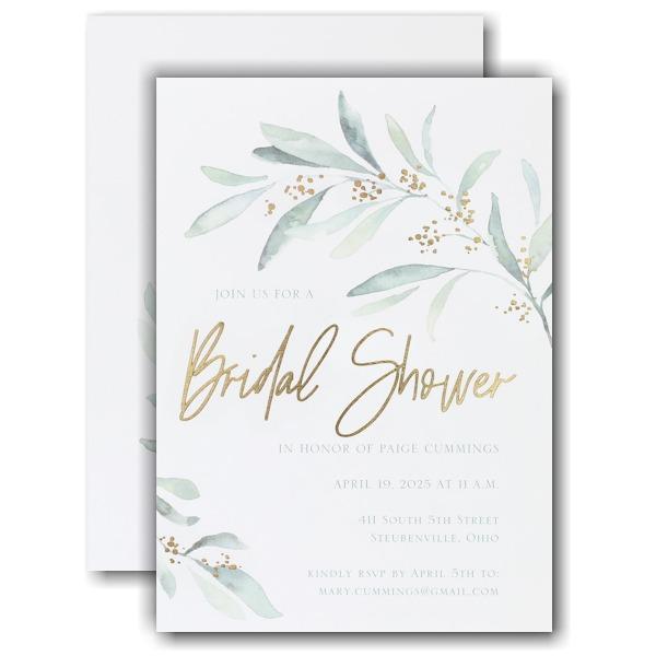 Fresh Daydream Bridal Shower Invitation